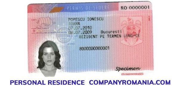Long term residence plastic card